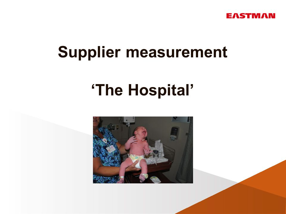 This is usually what we run into when we want to measure our suppliers