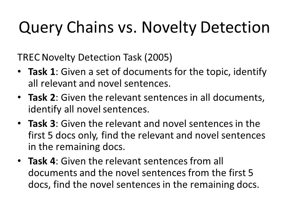 Query Chains vs.