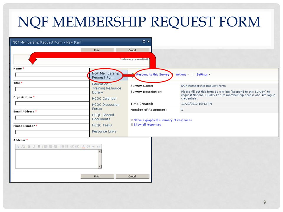 NQF MEMBERSHIP REQUEST FORM 9