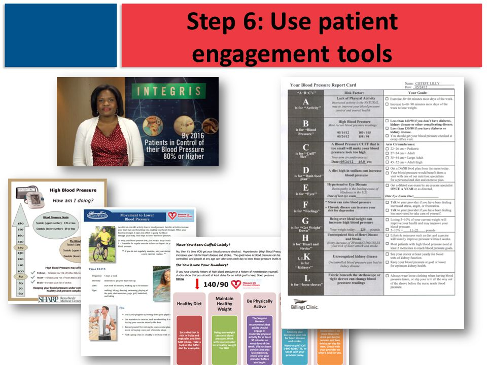 Step 6: Use patient engagement tools