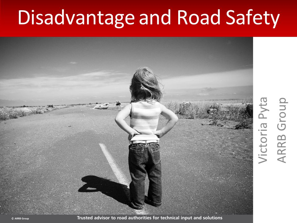 Victoria Pyta ARRB Group Disadvantage and Road Safety