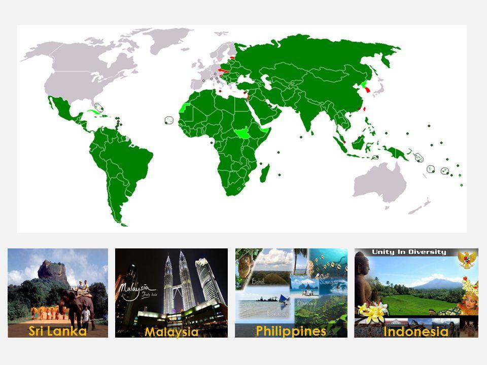 Malaysia Indonesia PhilippinesSri Lanka