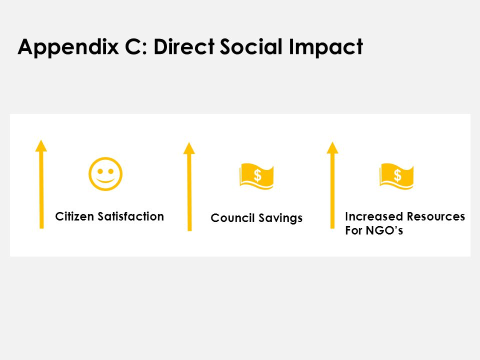 Citizen Satisfaction Council Savings Increased Resources For NGO's Appendix C: Direct Social Impact