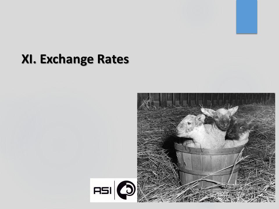 XI. Exchange Rates