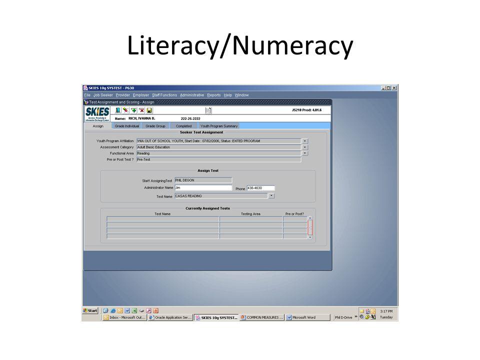 Literacy/Numeracy