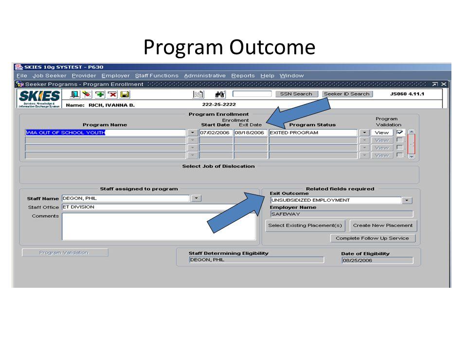 Program Outcome