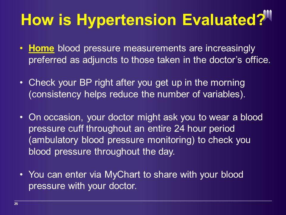 How is Hypertension Evaluated.