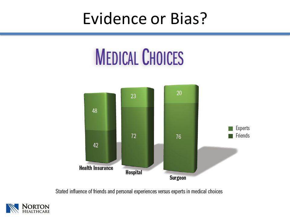 Evidence or Bias