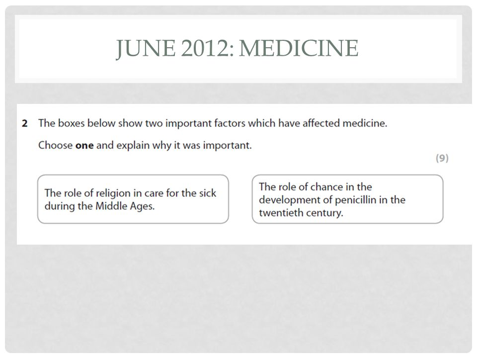 JUNE 2012: MEDICINE