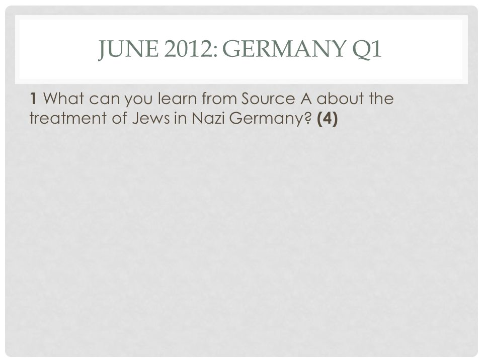 Q1 JUNE 2012 GERMANY