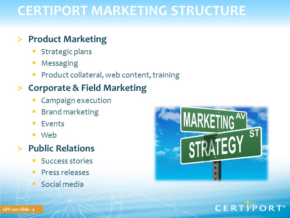 GPS 2011 Slide - 15 STAY CURRENT Certiport Weekly Partner newsletter  Primary communication vehicle  Latest product releases  Current worldwide marketing campaigns  Links to new customer case studies  Participate in social media activities