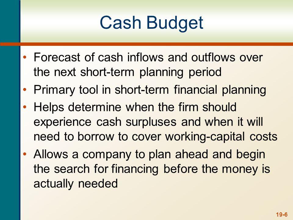 19-7 Example: Cash Budget Information Pet Treats Inc.