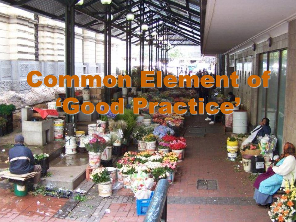 Common Element of 'Good Practice' 21