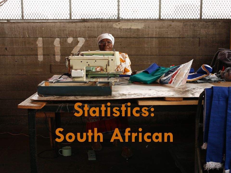 StatsSA Definition Informal sector:  Employees working in establishments that employ less than five employees, who do not deduct income tax from their salaries/wages; and  Employers, own-account workers and persons helping unpaid in their household business who are not registered for either income tax or value-added tax.