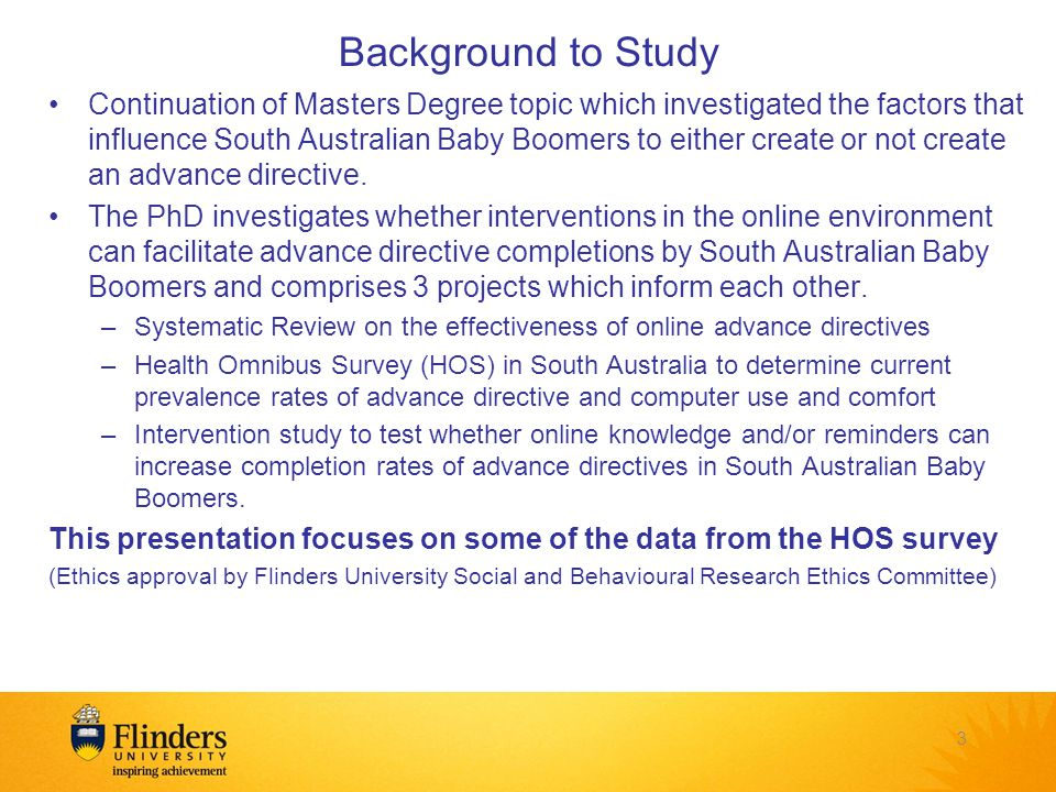 Methodology of SA HOS Data collected Sept – Dec 2012 Metropolitan and Regional South Australia Sample size 3055 respondents from 5200 households (66.4% response rate) Data in this presentation weighted by person and household weights 4