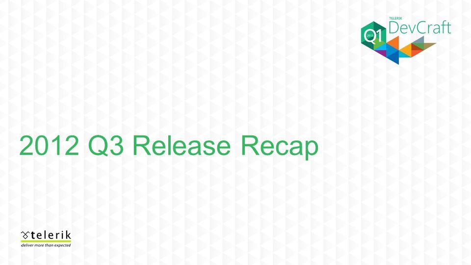 2012 Q3 Release Recap