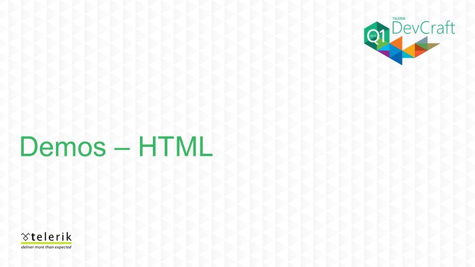 Demos – HTML