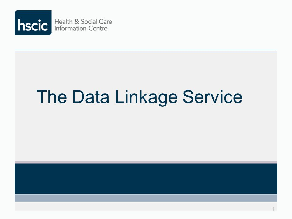 The Data Linkage Service 1