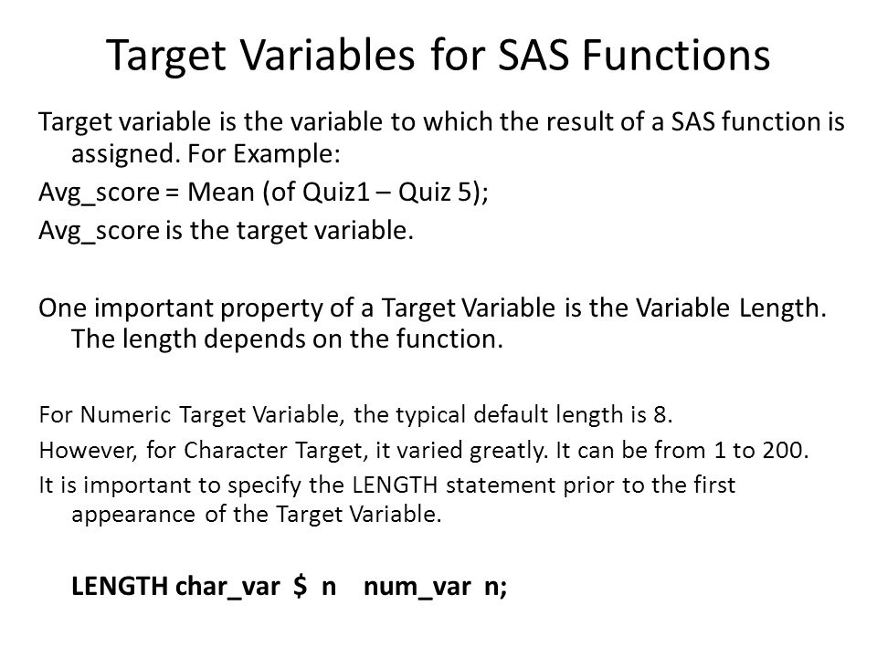 Examples of using TRANWRD Note: TRANWRD function is case sensitive.