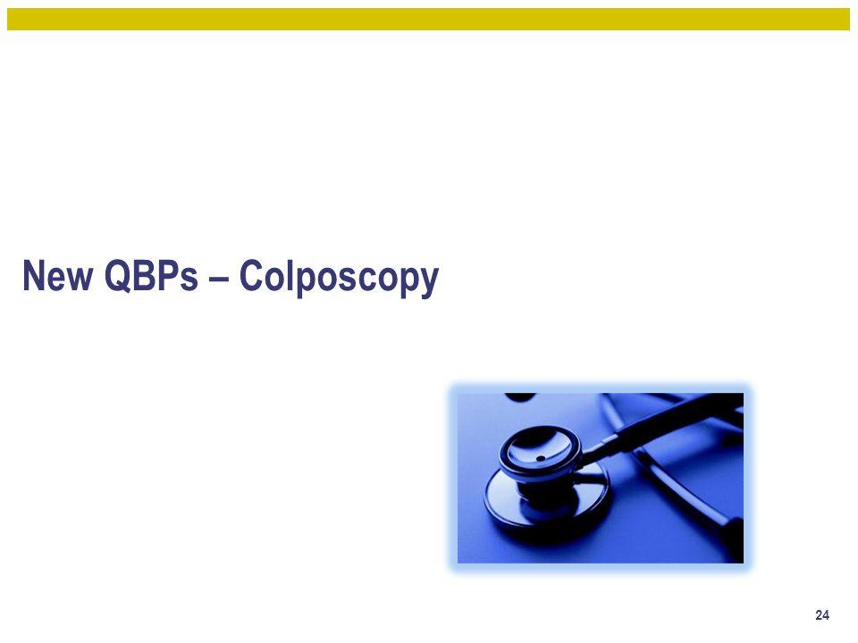New QBPs – Colposcopy 24