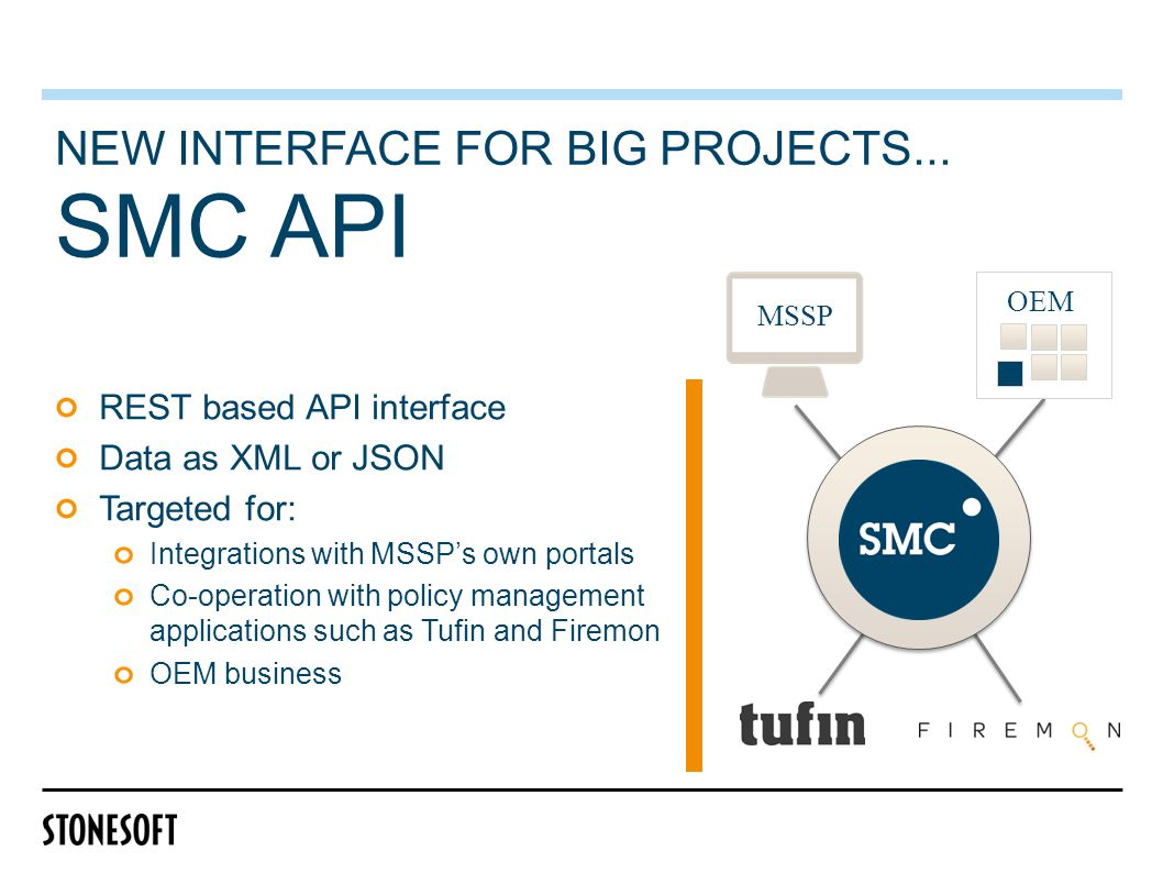 SMC API NEW INTERFACE FOR BIG PROJECTS...