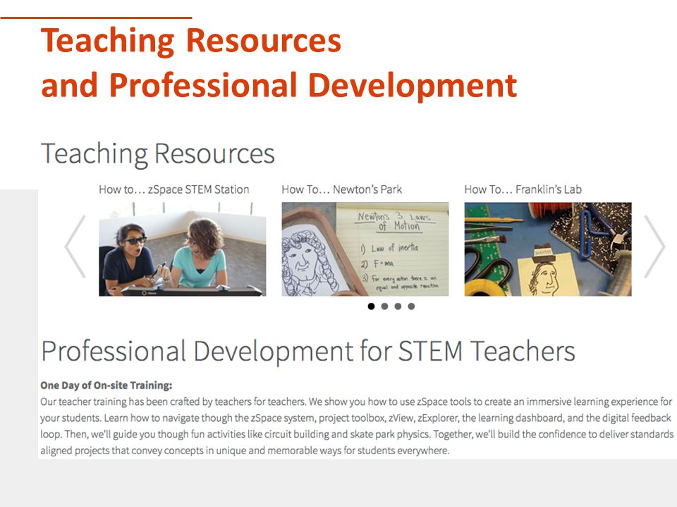 Teaching Resources and Professional Development