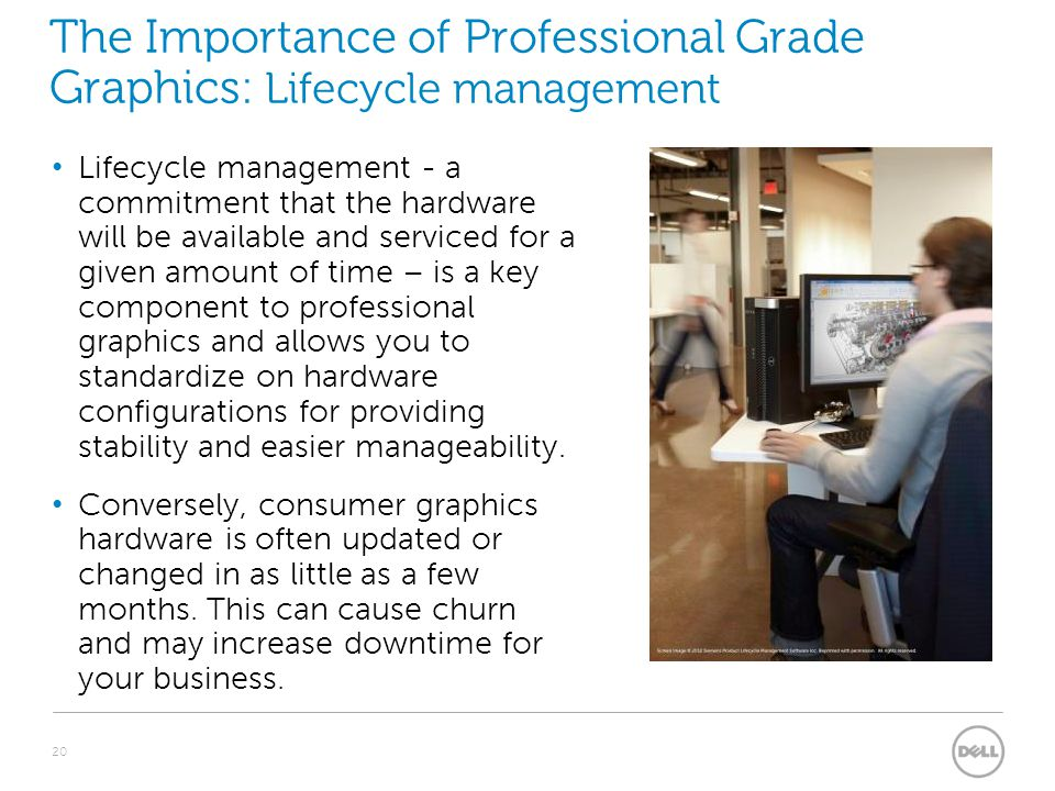 The Importance of Professional Grade Graphics: Lifecycle management Lifecycle management - a commitment that the hardware will be available and servic