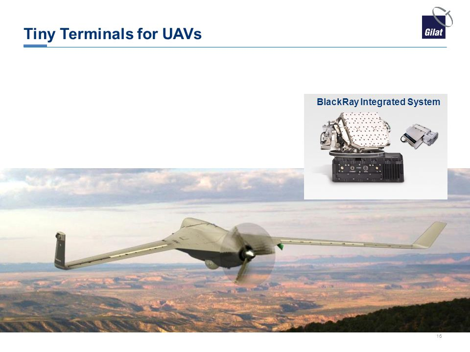 Tiny Terminals for UAVs BlackRay Integrated System 16