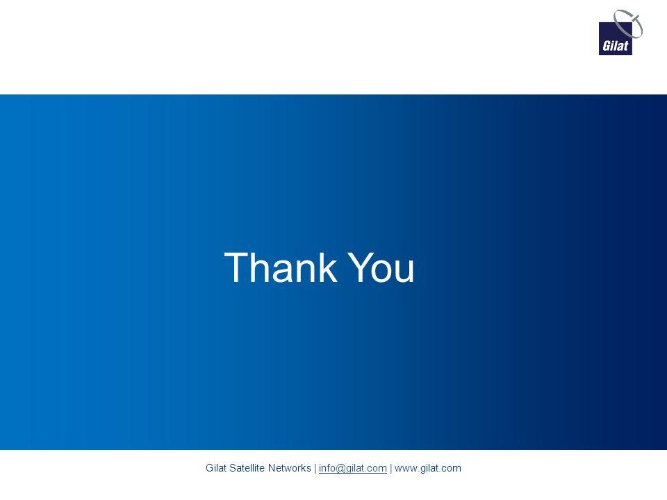 Thank You Gilat Satellite Networks | info@gilat.com | www.gilat.cominfo@gilat.com