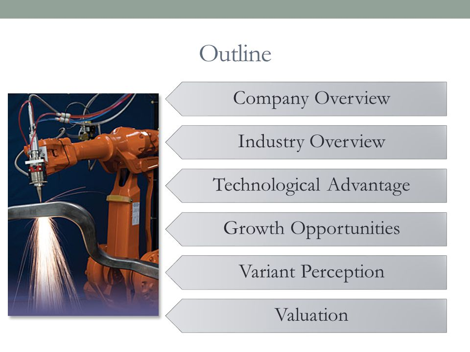Outline Company Overview Industry Overview Technological Advantage Growth Opportunities Variant Perception Valuation