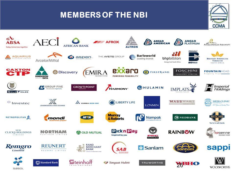26 MEMBERS OF THE NBI