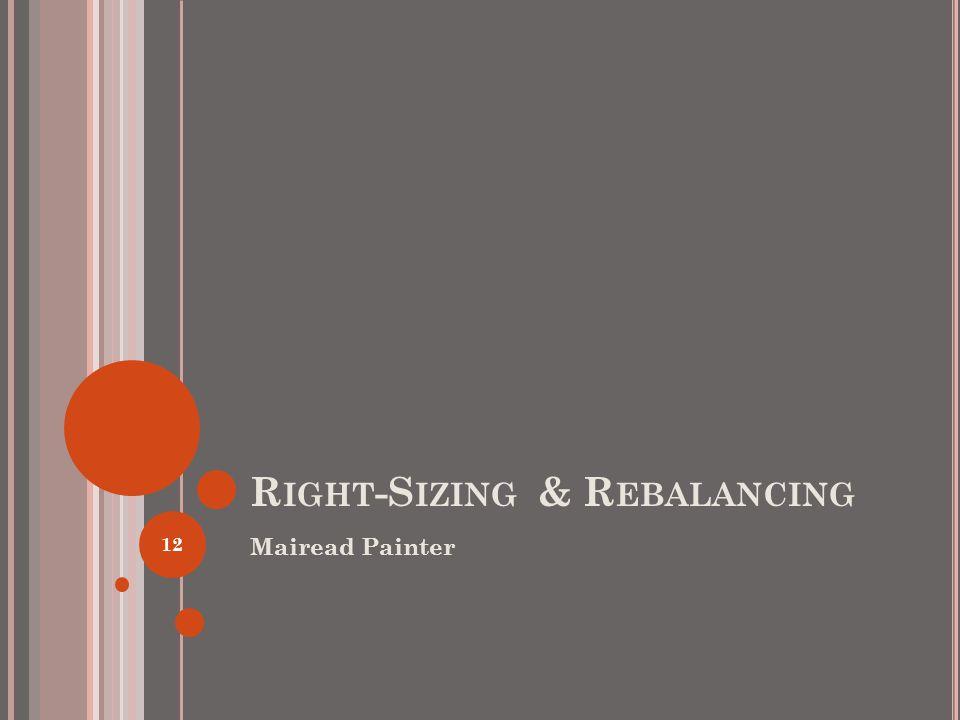 R IGHT -S IZING & R EBALANCING Mairead Painter 12
