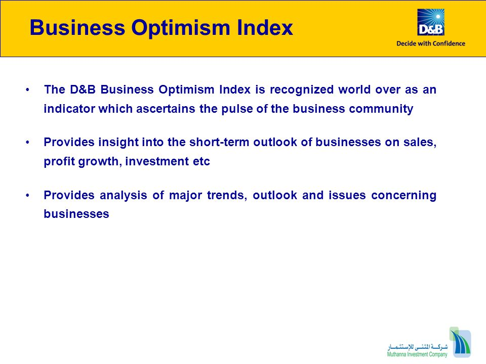 Business Optimism Indices Trends : Hydrocarbon sector Half of the oil & gas respondents expect selling prices to improve in Q1 60% anticipate a rise in employee count Source: OPEC OPEC Monthly Basket PriceBusiness Optimism Indices