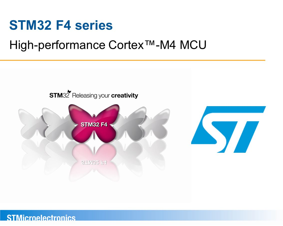 High-performance Cortex™-M4 MCU STM32 F4 series