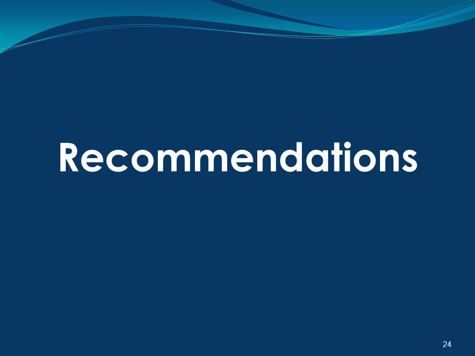 24 Recommendations
