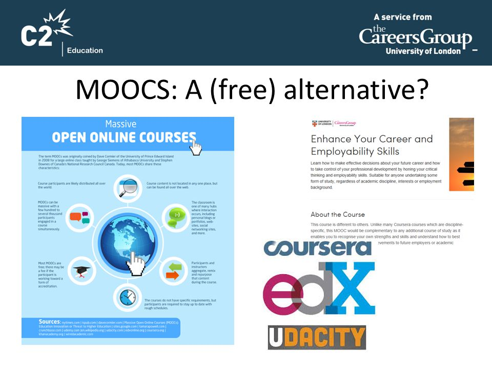 MOOCS: A (free) alternative?