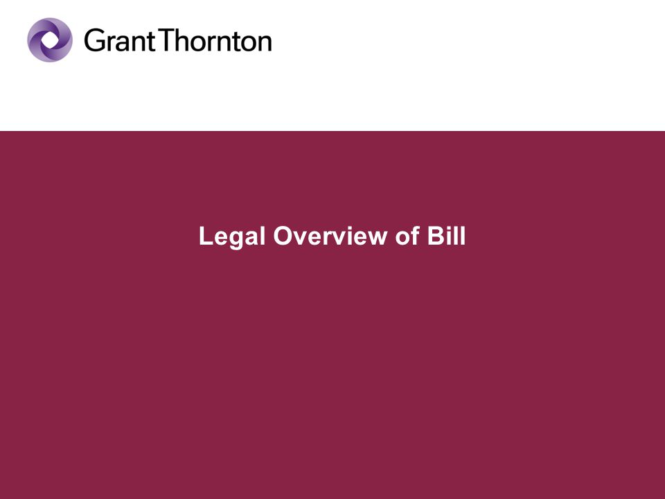 Legal Overview of Bill