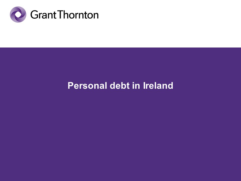 Personal debt in Ireland