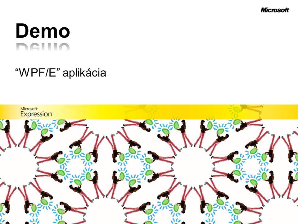 WPF/E aplikácia