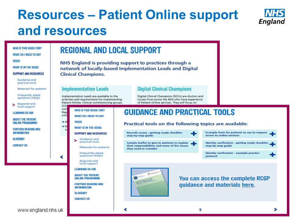 Resources – Patient Online support and resources