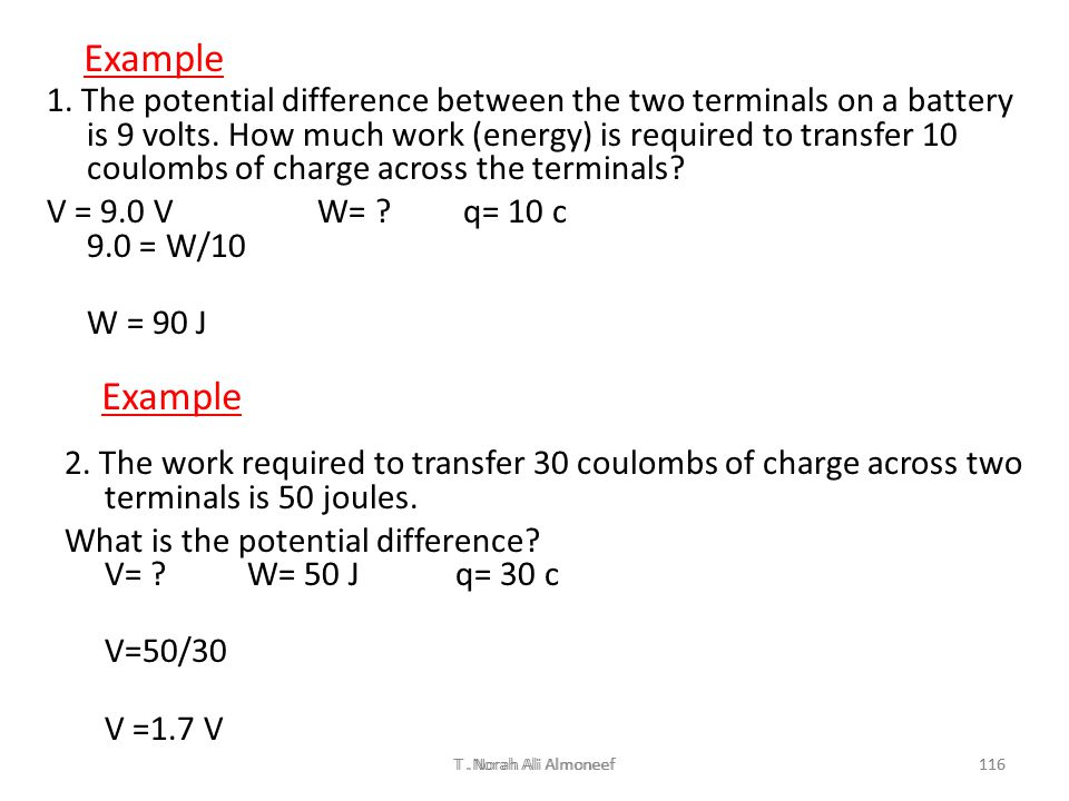 T. Norah Ali Almoneef115 Two point charges of values +3.4 and +6.6 μC respectively, are separated by 0.20 m. What is the potential energy of this 2-ch