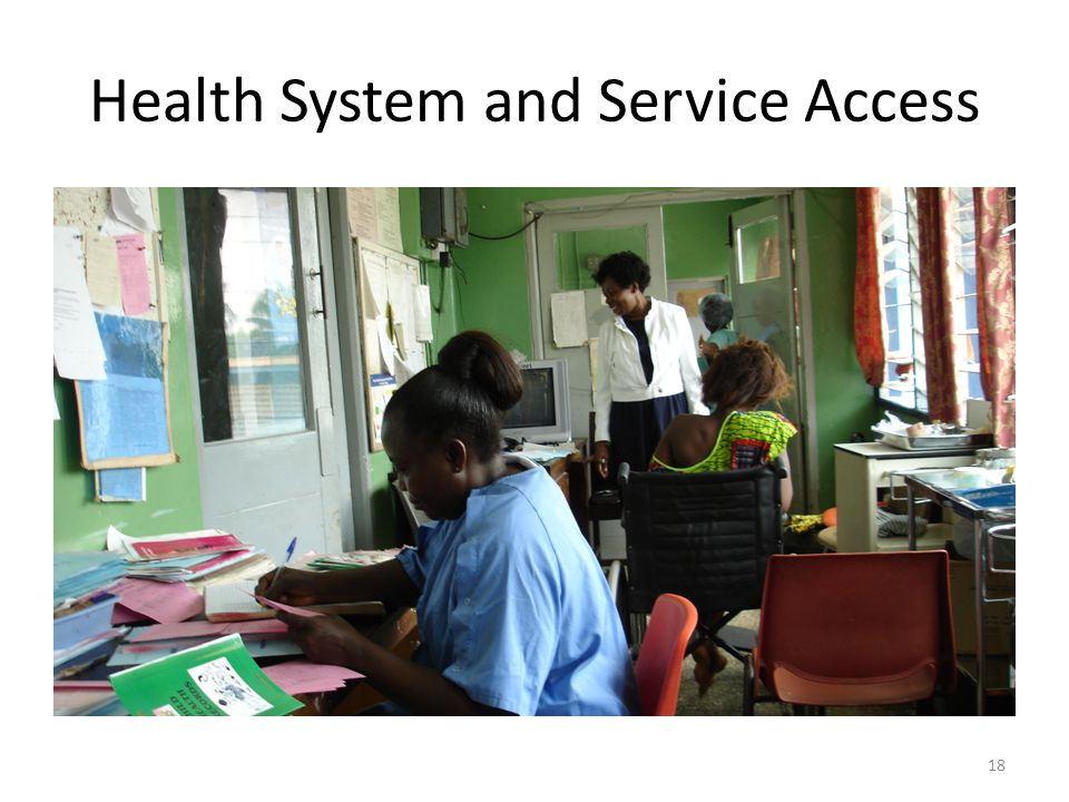 Health System and Service Access 18