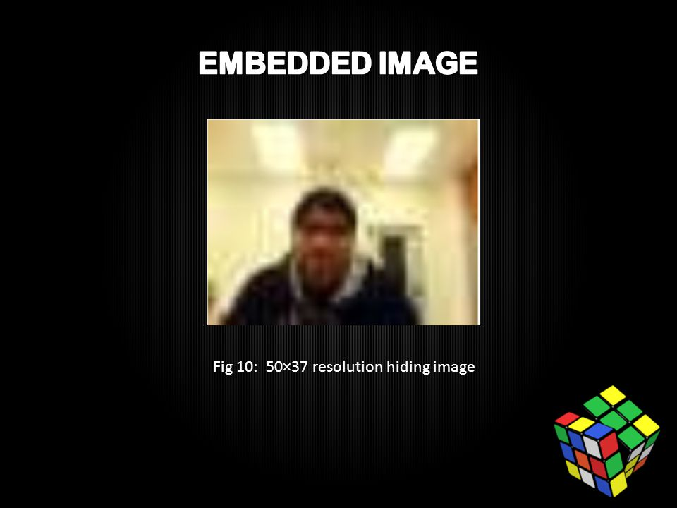 Fig 10: 50×37 resolution hiding image