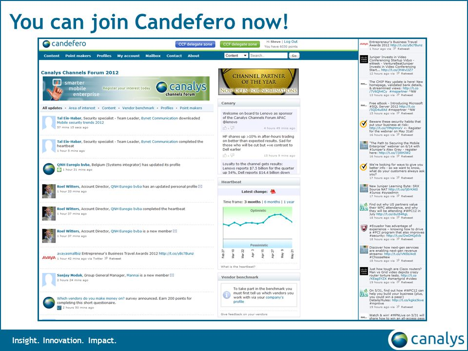 Insight. Innovation. Impact. You can join Candefero now!