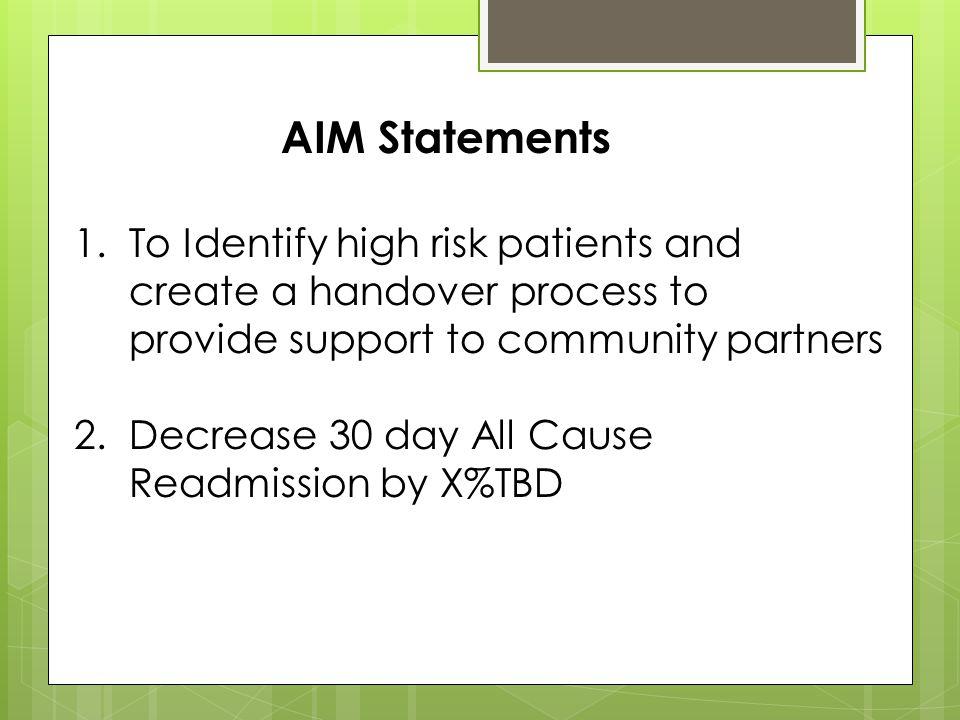 AIM Statements 1.