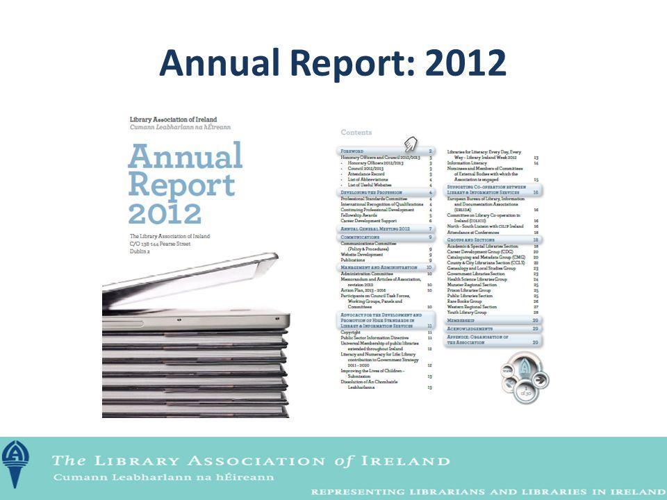 Annual Report: 2012