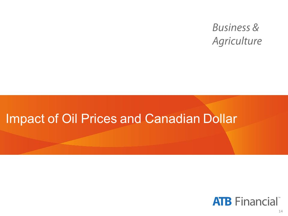 14 Impact of Oil Prices and Canadian Dollar