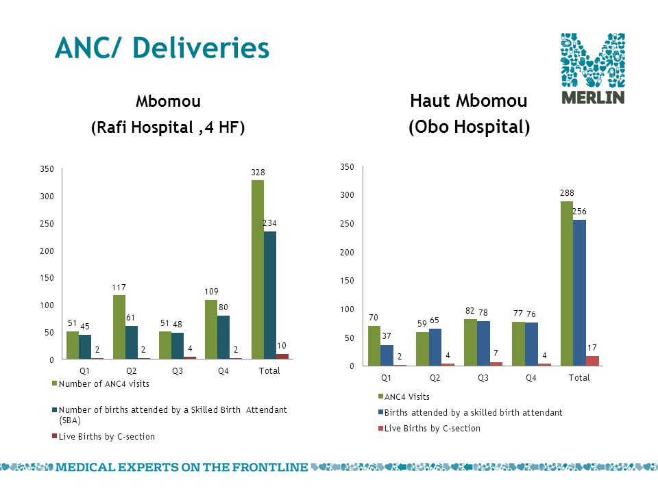 ANC/ Deliveries Haut Mbomou (Obo Hospital) Mbomou (Rafi Hospital,4 HF)