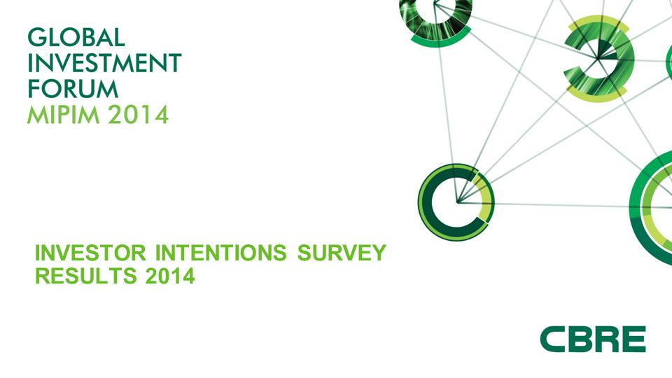INVESTOR INTENTIONS SURVEY RESULTS 2014