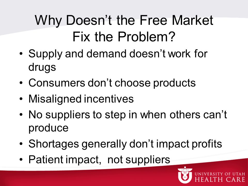 Why Doesn't the Free Market Fix the Problem.